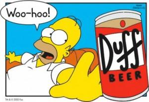 Duff beer - Homer Simpson