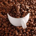 Tasse et grains de café