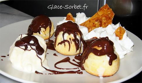 Profiteroles glac es la vanille sauce chocolat la - Chantilly maison sans syphon ...