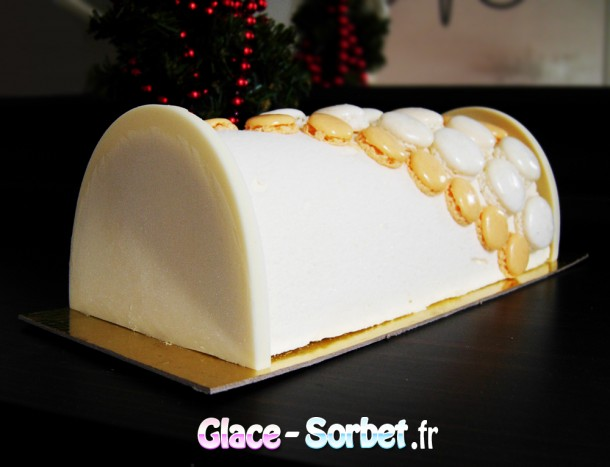 B che glac e la f ve de tonka et c ur de fruit de la for Decoration maison pour buche de noel