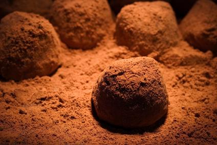 Truffes glacées au chocolat noir