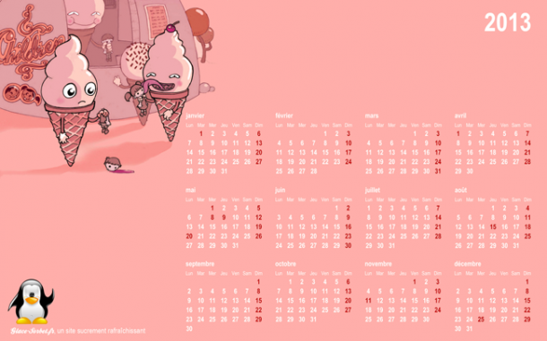 Calendrier rose