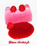 Fondant glac  la framboise